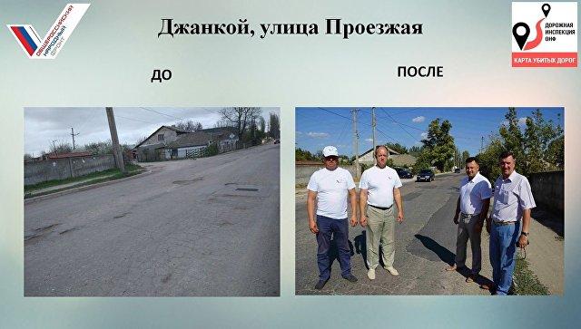 Региональное отделение ОНФ методом голосования составило рейтинг самых убитых дорог в Республике Крым