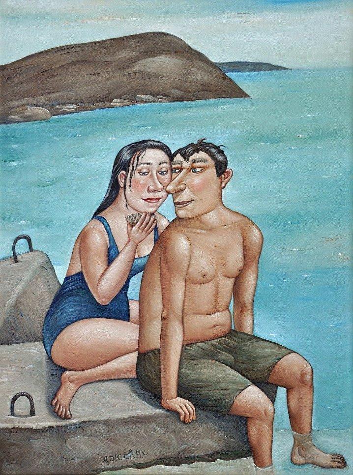 Картина Ракушка художницы Анжелы Джерих