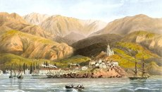 Картина Карло Боссоли Вид Ялты. 1856 год