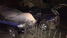 ДТП с участием машины ДПС, которая преследовала пьяного водителя в Симферополе
