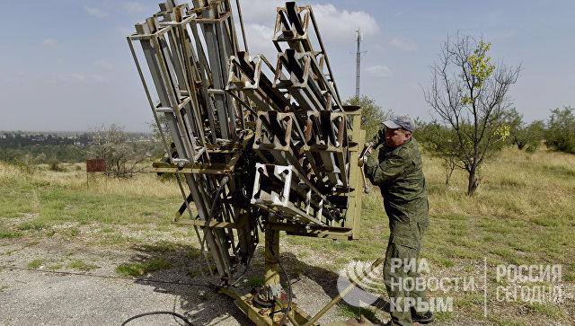 Пусковые установки ТКР-040 протовоградовой службы в Крыму