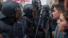 Столкновения у избирательных участков в ходе референдума о независимости Каталонии