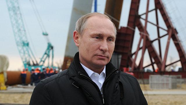 Рабочая поездка президента РФ В. Путина в Крым. 18 марта 2016