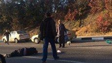 На автодороге Симферополь - Алушта сбили пешехода и скрылись с места ДТП