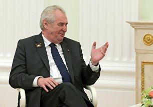 Президент Чешской Республики Милош Земан