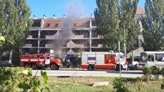 Пожар в гостинице в Феодосии