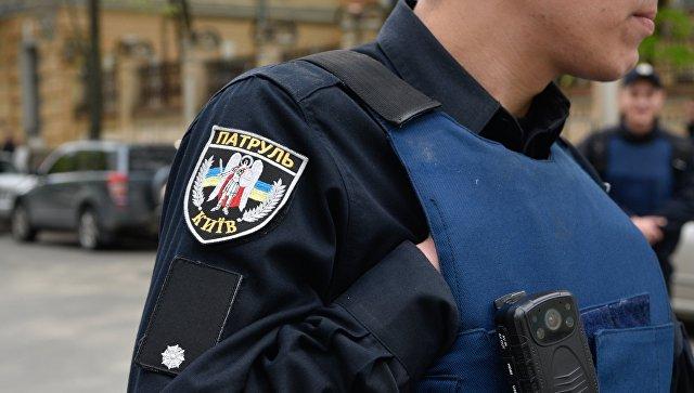 Сотрудник полиции в Киеве. Архивное фото