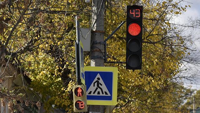 Светофор в центре Симферополя