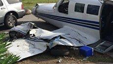 Разбившийся легкомоторный самолет во Флориде. 18 октября 2017