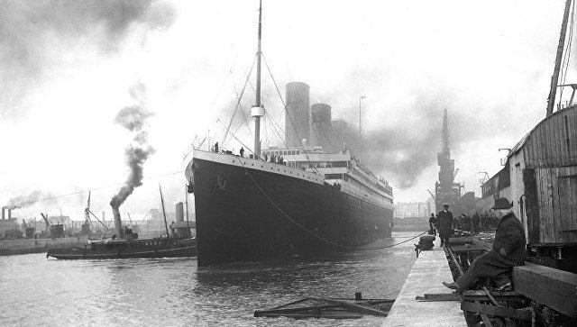 Титаник в доке. Архивное фото