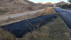 Отремонтированная дорога в районе пгт Орджоникидзе (Феодосия)