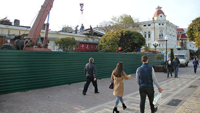 Реконструкция одного из зданий на улице Карла Маркса в Симферополе