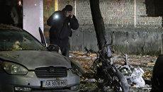 Место покушения на депутата Верховной Рады Украины Игоря Мосейчука в Киеве