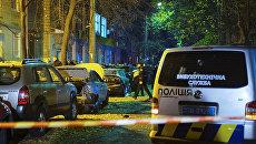На месте покушения на депутата Верховной Рады Украины Игоря Мосийчука в Киеве