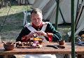 Участник военно-исторического фестиваля Русская Троя в Севастополе