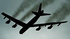 Американский стратегический бомбардировщик В-52Н Stratofortress во время учений Global Thunder 17. Архивное фото