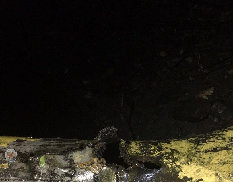 Повреждение газопровода под Алуштой
