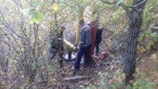 Место повреждения газопровода под Алуштой