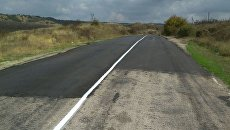 Отремонтированная дорога в Бахчисарайском районе