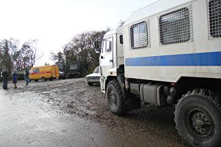Место повреждения газопровода возле села Виноградное под Алуштой
