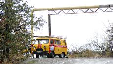 Въезд в село Запрудное (Алушта)