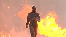 Сквозь взрывы и осколки: боевую  экипировку Ратник проверили на огнестойкость