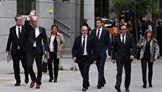 Бывшие члены женералитета Каталонии прибывают в Верховный суд Испании, 2 ноября 2017 года