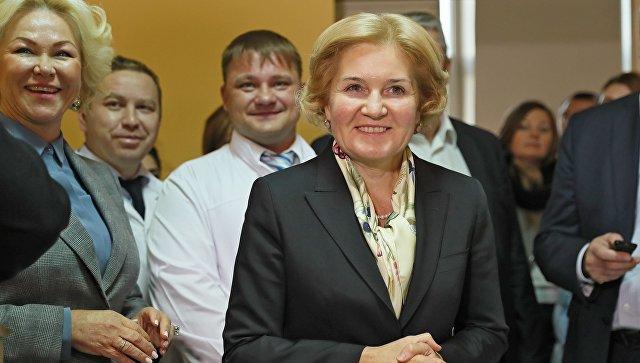 Заместитель председателя правительства России Ольга Голодец во время визита в Симферополь