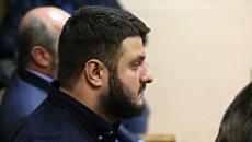 Сын главы МВД Украины Арсена Авакова Александр во время заседании Соломенкого суда в Киеве. 2 ноября 2017
