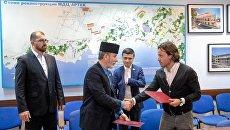 Подписание соглашения между МДЦ Артек и ДУМК по сохранению мусульманского кладбища