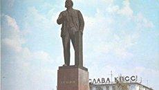 Памятник Ленину на одноименной площади Симферополя в советское время