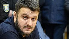 Сын министра внутренних дел Украины Александр Аваков во время заседания суда в Киеве. Архивное фото