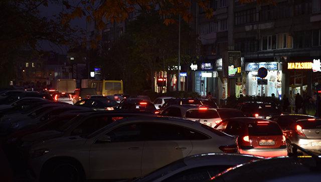 Транспортный затор в Симферополе