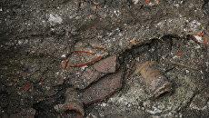 Раскопки на месте обнаружения дворца Калга-султана в Симферополе