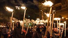 Факельное шествие радикалов на Украине. Архивное фото