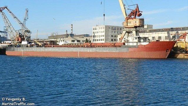 Украинский пароход терпит бедствие вКерченском проливе