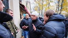 Начальник полиции Одессы во время стычки с митингующими