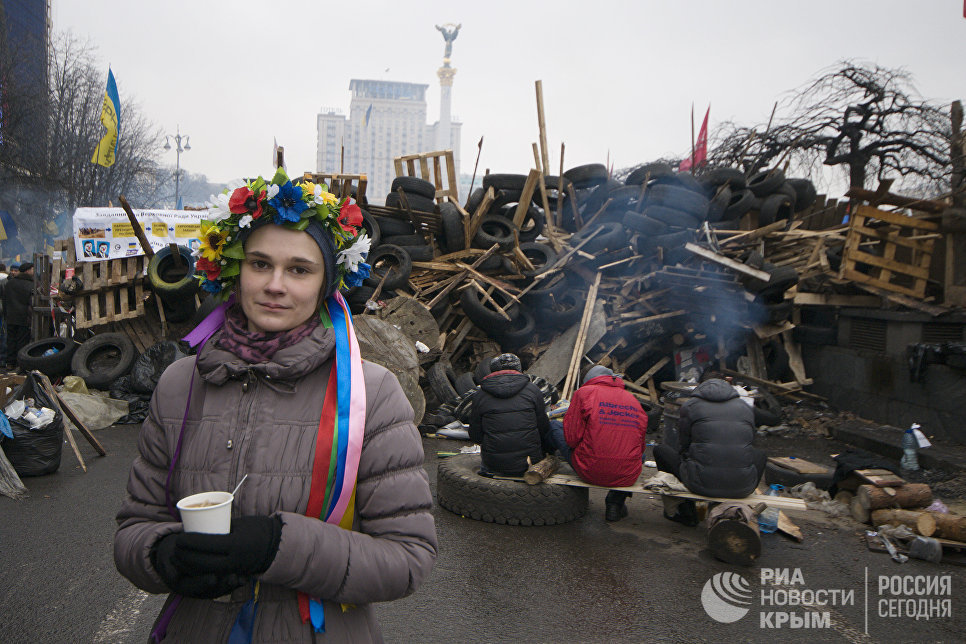 Акция протеста в центре Киева. Декабрь 2013