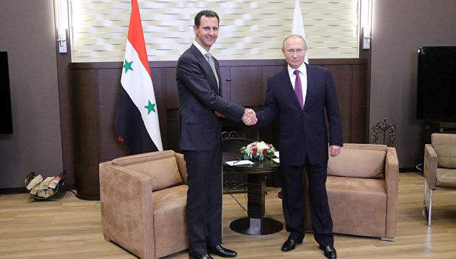 Президент РФ Владимир Путин и президент Сирии Башар Асад во время встречи. 20 ноября 2017