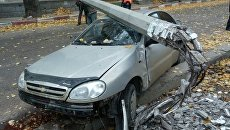 ДТП в Феодосии, где на авто упала опора ЛЭП