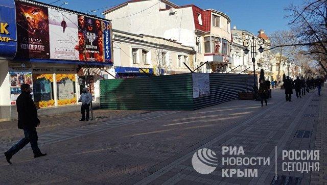 Реконструкция здания в центре Симферополя