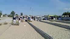 Место теракта в мечети эр-Роуда неподалеку от города Эль-Ариш
