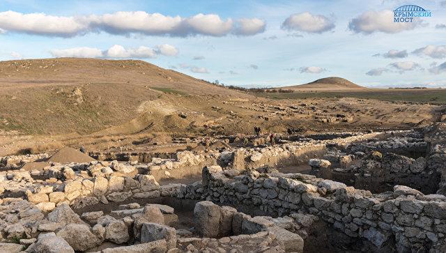 Археологические исследования на месте будущего строительства железнодорожного подхода к мосту через Керченский пролив