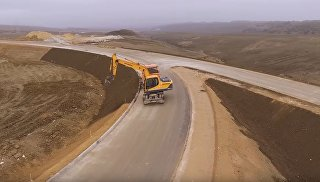 Строительство развязки автоподходов к мосту через Керченский пролив