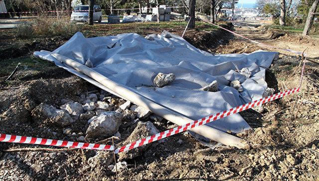 Место обнаружения вероятного кубрика личного состава батареи Алексея Матюхина на Малаховом кургане в Севастополе