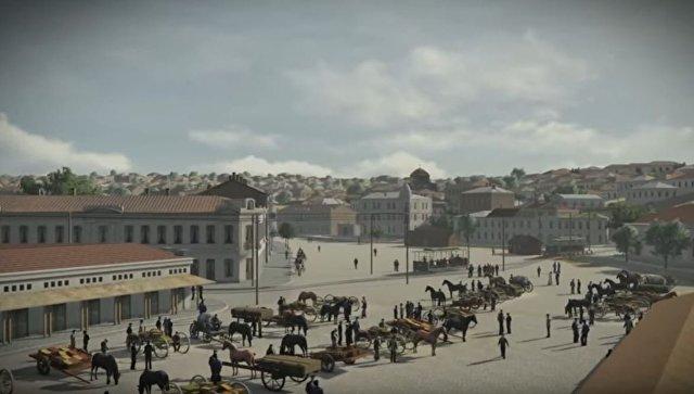Реконструкция в 3D Артиллерийской бухты Севастополя 1914 года