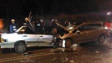 Тройное ДТП с лобовым столкновением в Севастополе