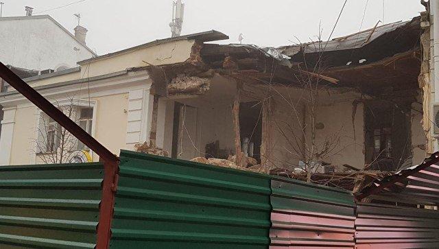 Снесенное на улице Пушкина в Симферополе здание