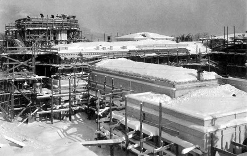 Строительство Белого Ливадийского дворца. Зима 1911 года
