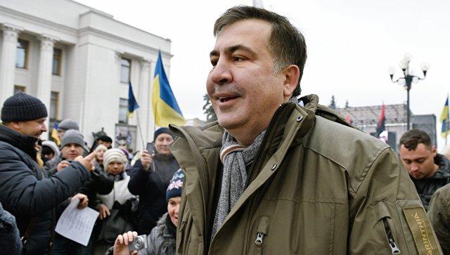 Бывший президент Грузии, экс-губернатор Одесской области Михаил Саакашвили на митинге в Киеве. Архивное фото